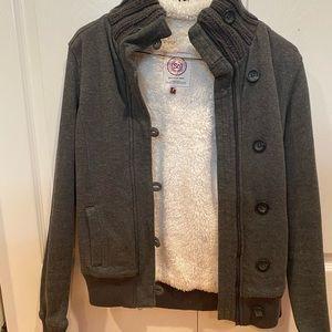 SO Fleece-Lined Sweater Jacket - size Sm